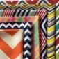300D彩色波浪条W条印花牛津面料批发 户外手袋吊床折叠椅箱包布料