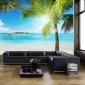 厂家直销风景墙贴宿舍客厅卧室沙发电视背景墙装饰夏日海滩墙纸